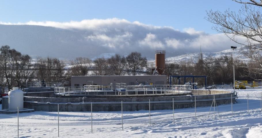 La depuradora de El Espinar, que servirá para el tratamiento de las aguas residuales de la comarca segoviana.