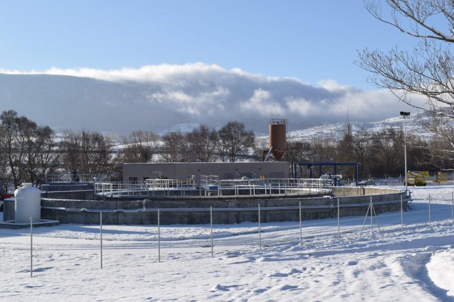 La depuradora de El Encinar, que servirá para el tratamiento de las aguas residuales de la comarca.
