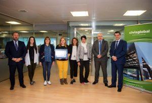 Víctor del Canto, presidente de Civis Global, junto al equipo de Prevención y representantes de Mutua Gallega.