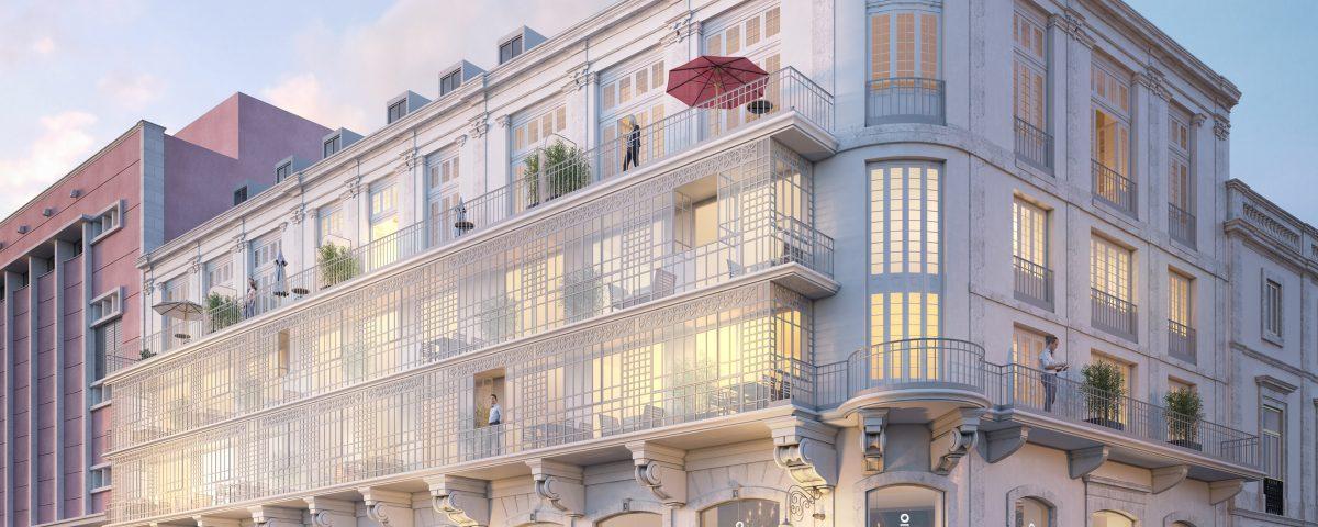 A obra inclui a rehabilitação integral do prédio e a construção de dez apartamentos de luxo e um restaurante.
