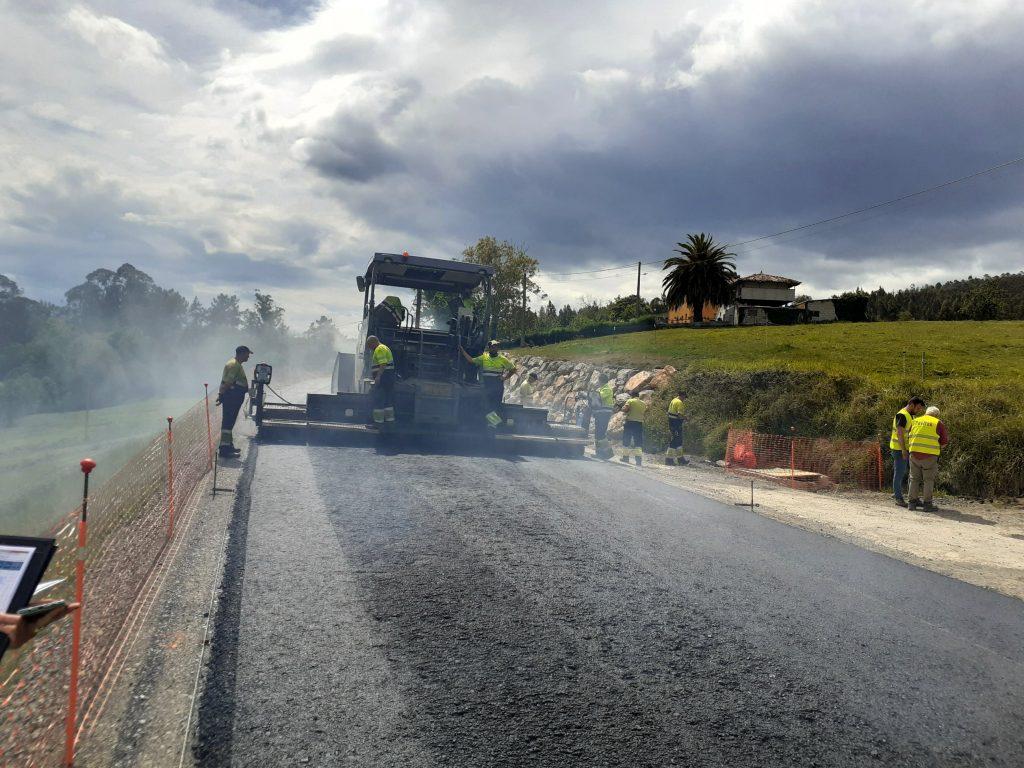 obras en carretera Escamplero - Asturias