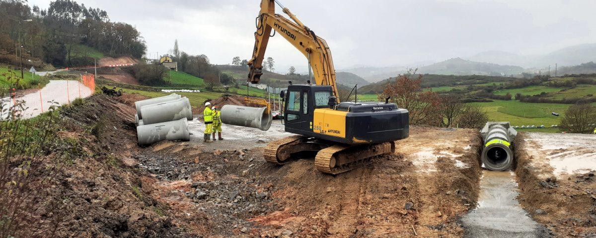 obras de Civis Global en carretera Escamplero-Asturias