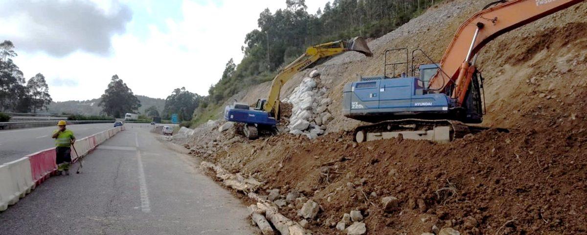 obras conservacion en A-8 Asturias